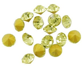10 pack Pale Yellow Chinese crystal Chatons