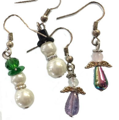 Saturday, 15th December, 1.30 - 3 pm Christmas Earrings