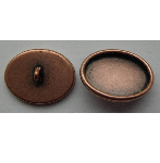 12x19mm Copper Plated Patera Oval Brass Button Bezel