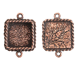 17x13mm Copper Plated Patera Ornate Double Square Bezel 2 pack