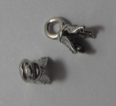 2mm Sterling Silver Cord Pinch Ends 1 pair.