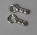 1.4mm Sterling Silver Crimpable Cord Ends 2 pairs
