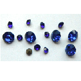 5 grams Sapphire Chinese crystal Chatons 2,3,4 mm