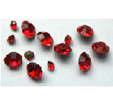 5 grams Red Chinese crystal Chatons 2,3,4 mm