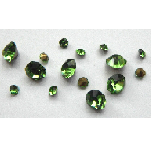 5 grams Green Chinese crystal Chatons 2,3,4 mm