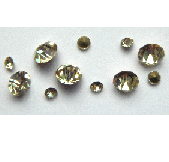 5 grams Pale Yellow Chinese crystal Chatons 2,3,4 mm