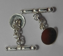 Sterling Silver Cufflinks with Chain