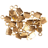 24K Gold Plated Connectors for 14PP Cup Chain Sold per Pair
