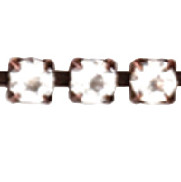 14PP Rhinestone Cup Chain Copper Plated 1.5 inch Length