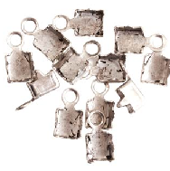 .999 Silver Plated Connectors for 14PP Cup Chain Sold per Pair