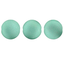 14mm Czech Cushion Round 8 Pack Satin Metallic Teal 29455
