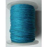 1mm Cotton Cord in dark turquoise. Price per 10 metres