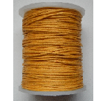 1mm Cotton Cord in deep yellow Price per 10 metres