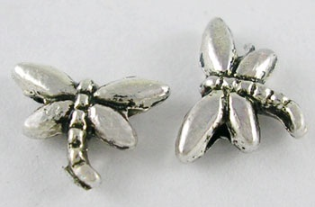 8mm Antique Silver Dragonfly 1 Nickel Free