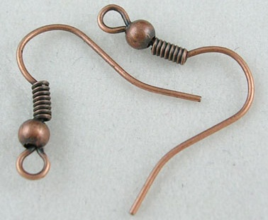 EYCNF01/1 A Copper Nickel Free Fish Hook Ear Wires 5 pairs