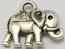 12mm Double sided Elephant Antique Silver Lead and Nickel Free