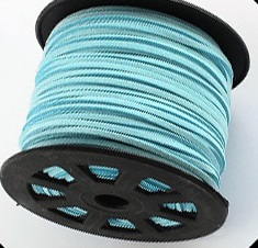 3 mm diameter Faux Suede Cord in Mint Green. Price per metre