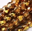 50 pack 4 mm Fire Polished Crystal Topaz Met Ice 00030 67156