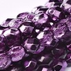 50 pack 4 mm Fire Polished Crystal Amethyst Met Ice 00030 67227