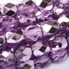 50 pack 4 mm Fire Polished Crystal Lilac Met Ice 00030 67272