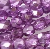 50 pack 4 mm Fire Polished Crystal Purple Met Ice 00030 67275
