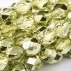 50 pack 4 mm Fire Polished Crystal Lime Metallic Ice 00030 67813