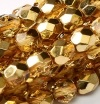 50 pack 4 mm Fire Polished Crystal Apricot Met Ice 00030 67861