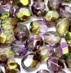 50 pack 4 mm Fire Polished Crystal Magic Orchid 00030 95000