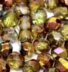 50 pack 4 mm Fire Polished Crystal Magic Green 00030 95400