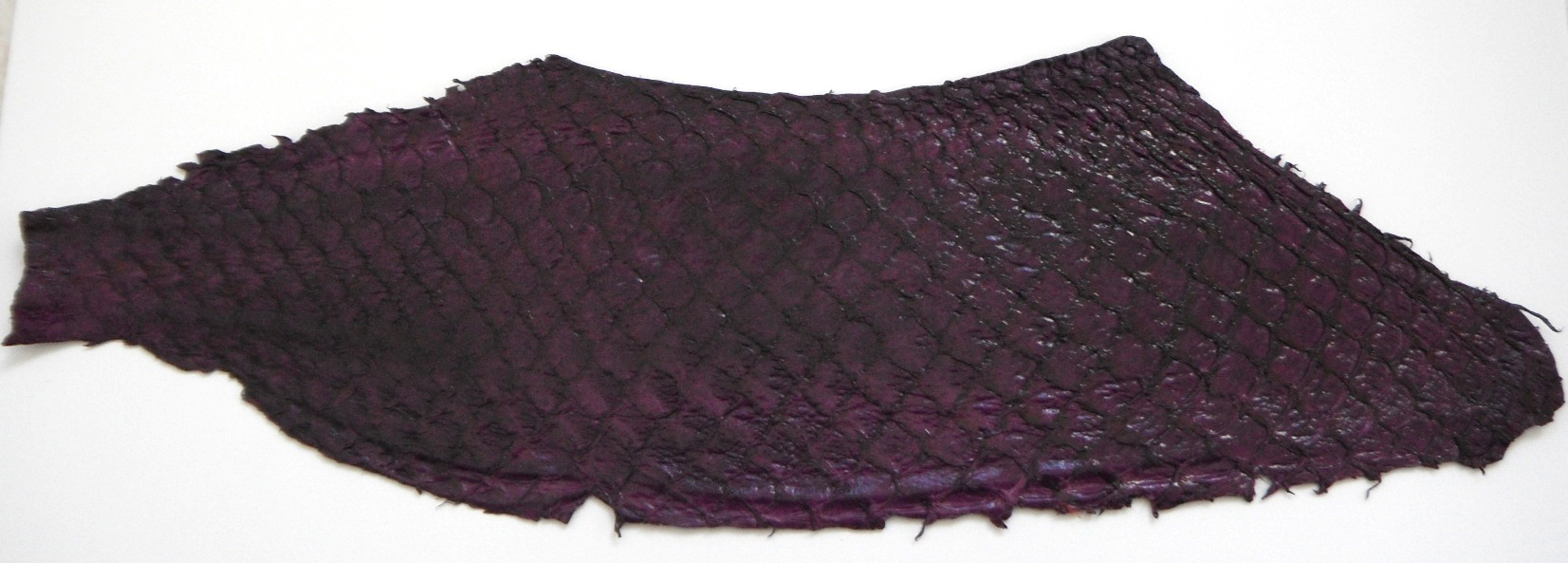 Eco friendly handmade soft suede Purple Tilapia Fish Skin Leathe