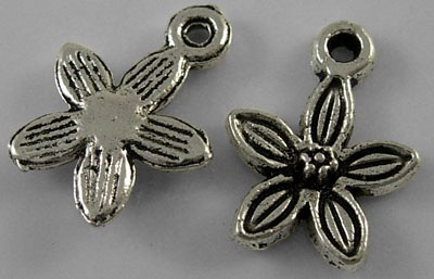 10mm Flower Charm Number 2 Lead and Nickel Free