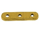 Antique Gold 3 hole spacer bars 24 mm long 6 mm wide 10 pack
