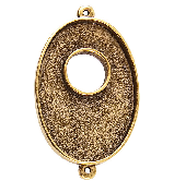 25x38mm 24K Gold Plated Patera Double Loop Toggle Oval