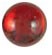 Round red dome 9mm Designed for Patera Shapes