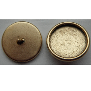 12mm 24K Gold Plated Patera Round Brass Button Bezel