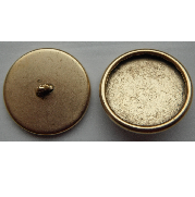 18mm 24K Gold Plated Patera Round Brass Button Bezel