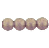 100 Czech 4 mm round glass beads Sueded Gold Amethyst MSG2006