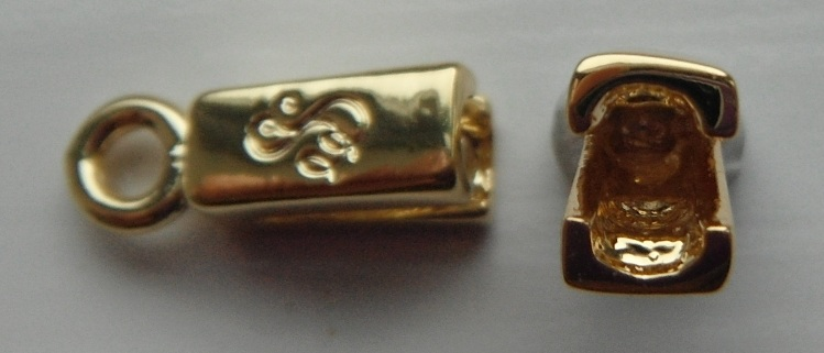Single Strand gold plated pewter end caps.Sold per pair