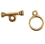 13mm 24K Gold Plated Patera Toggle Clasp