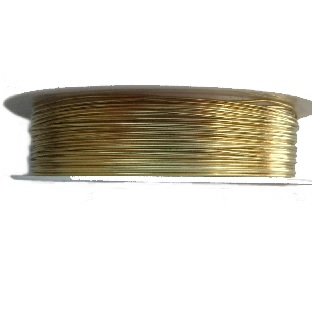 0.3mm 28 Gauge copper wire gold colour. Price per 26 metres