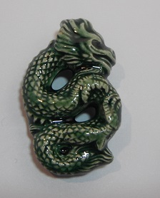 Peruvian Fantasy Bead - Green Dragon