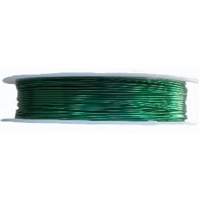 0.3mm 28 Gauge copper wire green colour. Price per 26 metres