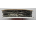 0.5mm Cotton Cord grey. Price per 25 metres