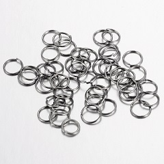 JRBl05 Gunmetal Colour 5mm Brass Jump Rings 50 pack