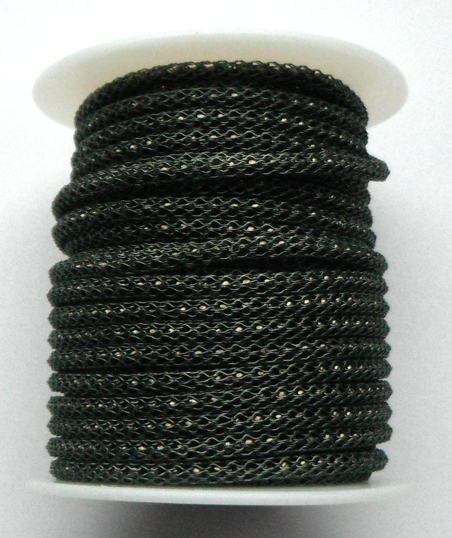 Hematite wire over 2mm Gunmetal bead chain Price per 10cm