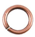 8mm Patera copper plated jumpring 10 pack