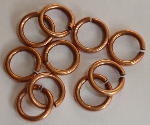 4.5mm Patera copper plated jumpring 25 pack