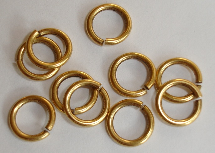 4.5mm Patera 24K gold plated jumpring 25 Pack