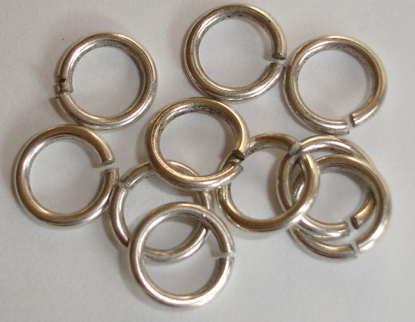 4.5mm Patera .999 A. Silver Plated jumpring 25 pack