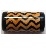 Peruvian Hand Painted Ceramic Bead - Large Tube 03